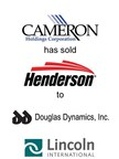 Lincoln International represents Cameron Holdings Corporation in the sale of Henderson Enterprises Group, Inc. to Douglas Dynamics, Inc.