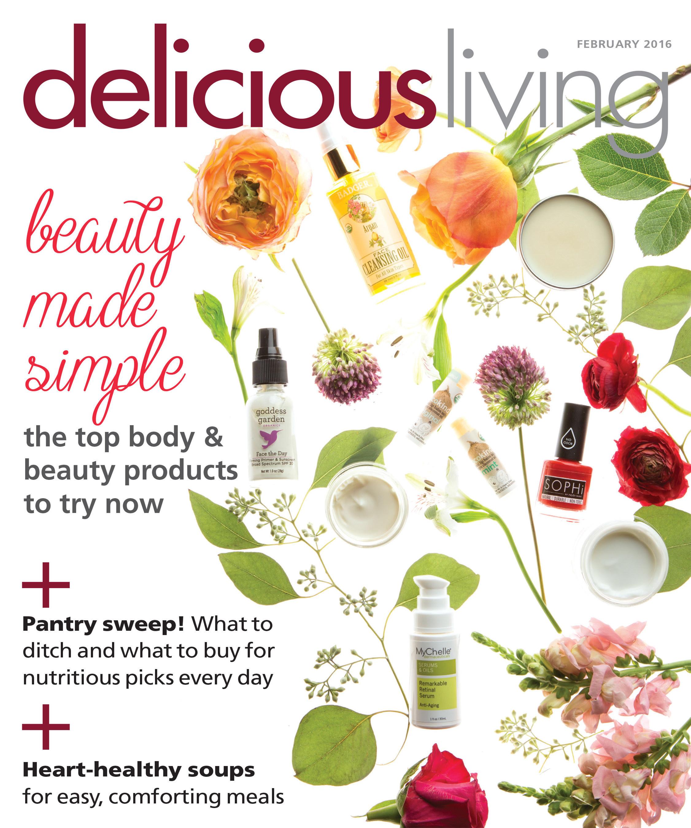 Delicious Living Magazine Announces 2016 Beauty & Body Award Winners