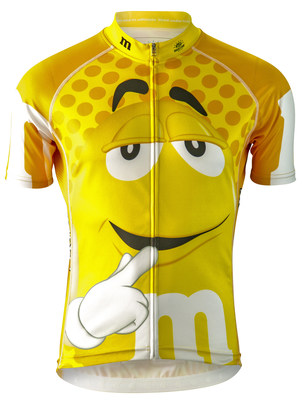 Sweet! Bicycle enthusiasts will stand out from the crowd by wearing colorful jerseys starring their favorite M&M'S(R) Characters. New from Brainstorm Gear and Mars Retail Group, these whimsical jerseys radiate the colorful fun of M&M'S(R) Brand Chocolate Candies. Available in a wide range of sizes and colors for men and women, the high-quality jerseys are $89.99 at online retailers including www.DicksSportingGoods.com, www.TeamEstrogen.com, www.BikeSomewhere.com, www.BikeMania.biz, www.CycleGarb.com and www.BrainstormGear.com.