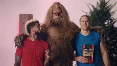Football superstars build beastly physiques with protein-packed Jack Link's Jerky and Sasquatch.