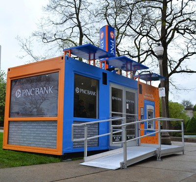 pnc bank s tiny branch debuts in morgantown pnc tiny branch introduces the bank of the future