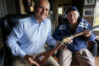 Louis Zamperini, World War II Hero, receiving a custom Henry Military Service Tribute Edition Rifle from Anthony Imperato, President of Henry Repeating Arms.  (PRNewsFoto/Henry Repeating Arms)