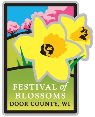 Door County Festival of Blossoms Logo. Logo courtesy DoorCounty.com/Door County Visitor Bureau.