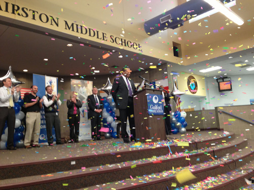 "GCS Superintendent Maurice ""Mo"" Green announces district won $30 million federal grant to students at ..."