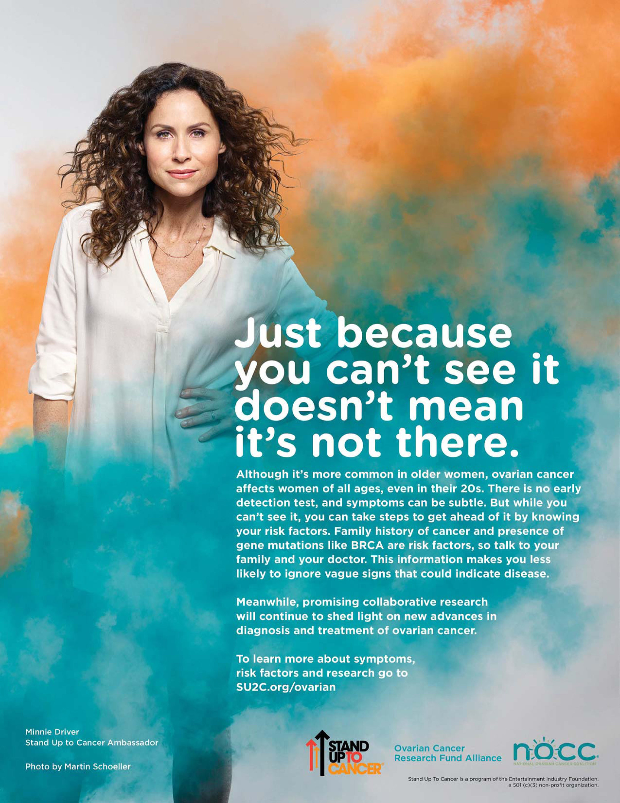 Minnie Driver Joins Stand Up To Cancer Ovarian Cancer Research Fund Alliance And National Ovarian Cancer Coalition In New Psa
