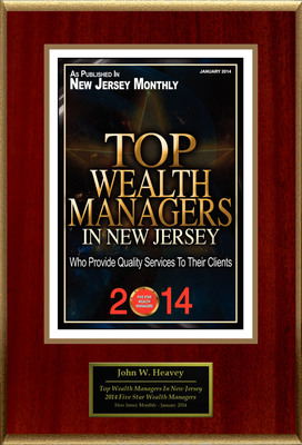 "John W. Heavey Selected For ""2014 Top Wealth Managers In New Jersey"". (PRNewsFoto/American Registry) (PRNewsFoto/AMERICAN REGISTRY)"