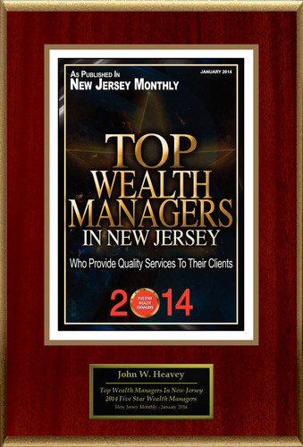 "John W. Heavey Selected For ""2014 Top Wealth Managers In New Jersey"". (PRNewsFoto/American Registry) ..."
