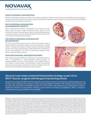 Fact sheet on maternal immunization is available at http://novavax.com/download/files/pipeline/151_Novavax_FactSheet_FIN_D_9x10.pdf