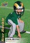 9-year-old cancer patient receives his very own Upper Deck Star Rookie card. Card depicted Jack Miller with the Colorado State Rams who adopted Jack through the Friends of Jaclyn charity. Jack's Upper Deck Star Rookie cards will be used for charitable purposes and to create awareness for the Friends of Jaclyn charity. (PRNewsFoto/Upper Deck)