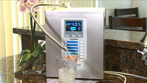 Make alkaline ionized drinking water with it's many medically researched health benefits by connecting a ...