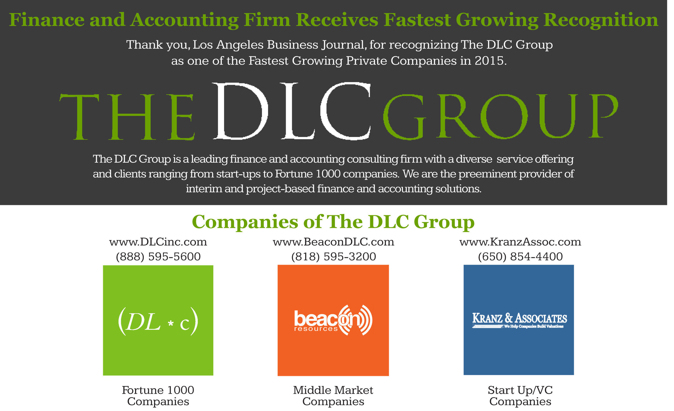 DLC Group - A Fastest Growing Company in Los Angeles!