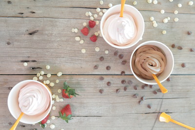 Orange Leaf Frozen Yogurt and Ghirardelli Chocolate Feature Three Decadent Froyo Flavors including White Chocolate Strawberry, White Chocolate Raspberry and Chocolate