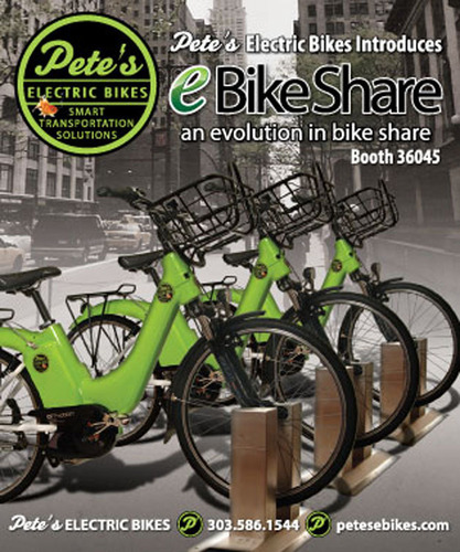 Pete's Electric Bikes Unveils Innovative Products at Interbike.  (PRNewsFoto/Pete's Electric Bikes)