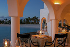 Dining area of the five-star Anguillan resort, Cap Juluca.  (PRNewsFoto/DK Realty)