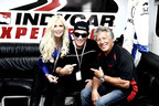 Journey's Neal Schon rides with Mario Andretti, a birthday gift from wife Michaele Schon.