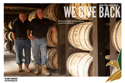 Wild Turkey® Bourbon Reboots Charity Partnership With The Boot Campaign To Support Military Service Men And Women