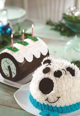 Baskin-Robbins' New Polar Bear Dome Cake and Fudge Yule Log Roll Cake