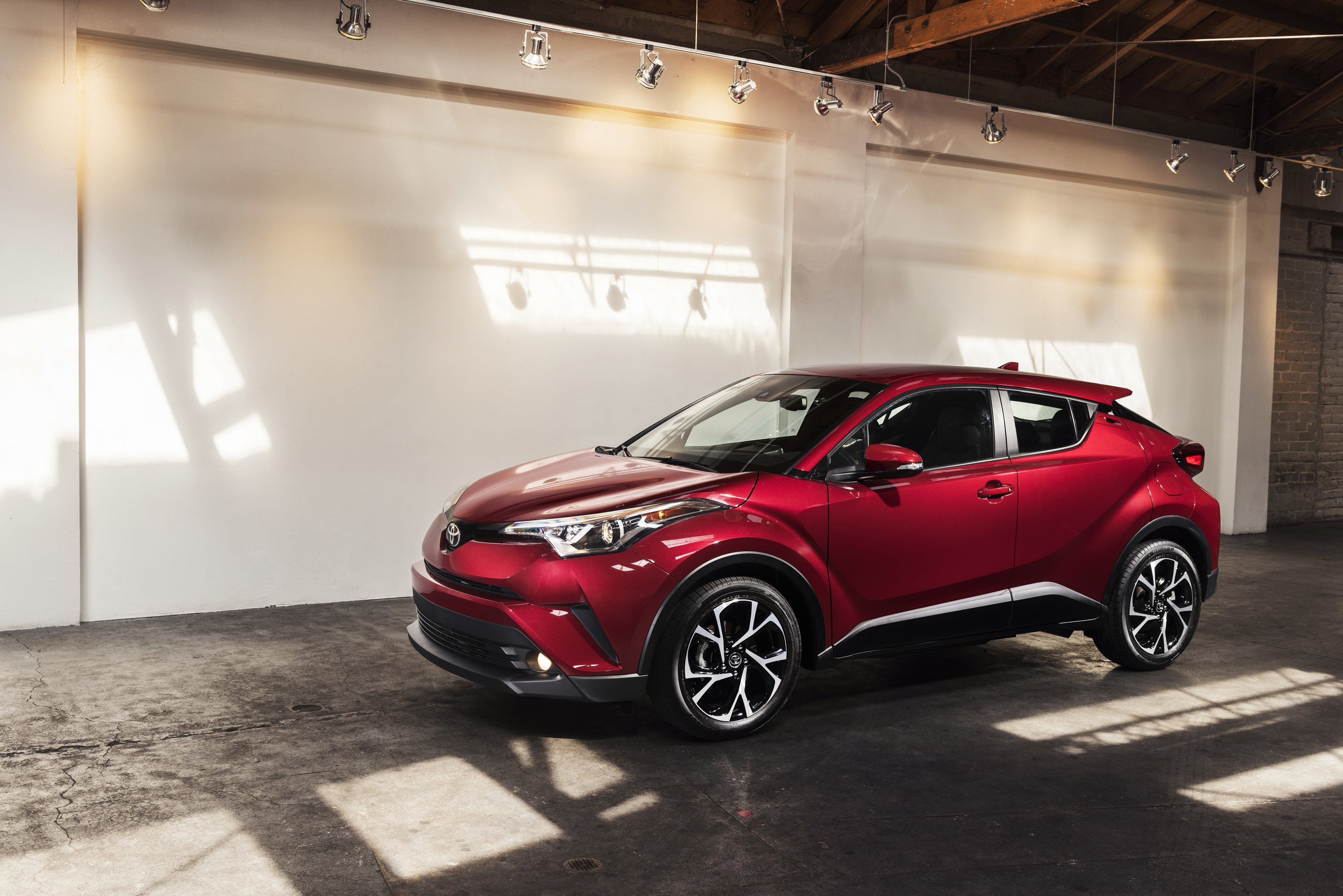 An exciting next chapter in Toyota's storied North American product history has been revealed under the lights of the Los Angeles Convention Center. Stylish, athletic, and tech-filled, the all-new 2018 Toyota C-HR - or, Coupe High-Rider - represents a leap forward in design, manufacturing, and engineering for Toyota.