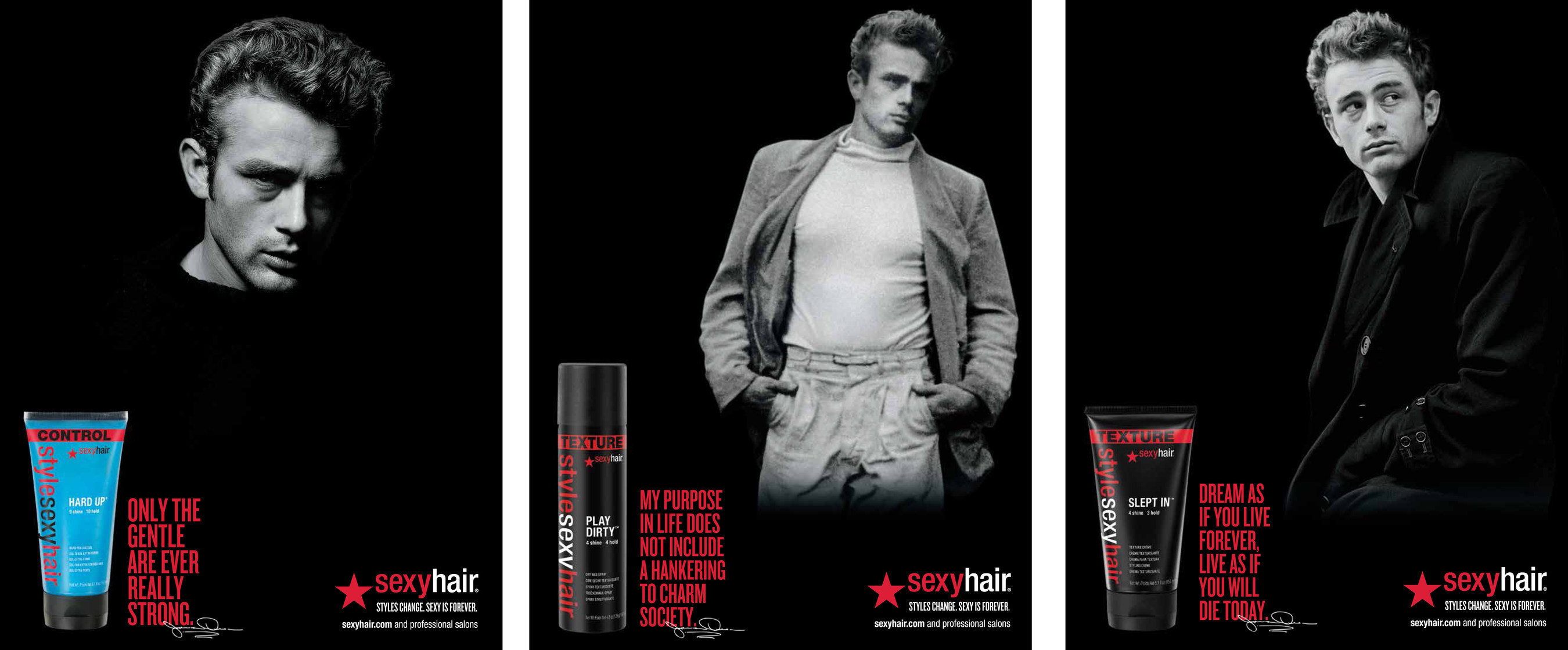 47f241f26fa Sexy Hair Partners with Hollywood Icon James Dean™