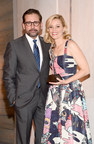 Actress and filmmaker Elizabeth Banks accepts the 2014 March of Dimes Grace Kelly Award from Steve Carell at the 9th annual March of Dimes Celebration of Babies: A Hollywood Luncheon (R) today at the Beverly Wilshire Hotel. The award recognizes a role-model celebrity parent who shares the March of Dimes commitment to healthy pregnancies and families. Celebration of Babies brings together and recognizes celebrities and prominent individuals in the entertainment community who are celebrating...