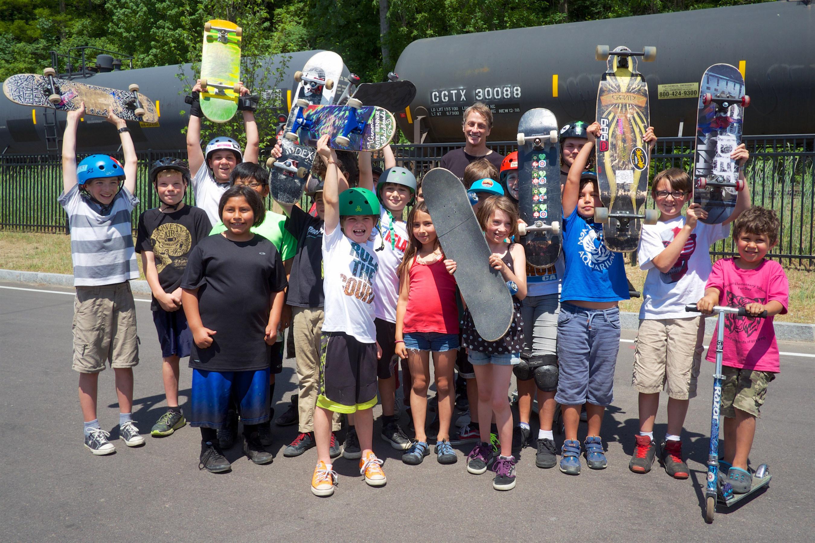 Tony Hawk Helps Celebrate 500th Skatepark