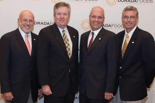 Dorada Poultry and Tyson Foods to open plant in Ponca City, OK. Ed Sanchez, Chairman & CEO (second from right) ...