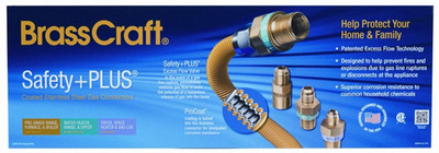BrassCraft Manufacturing Company's Safety Plus(R) Coated Stainless Steel Gas Connectors received a Gold Distinction in Merchandising award  the highest level possible  from the North American Retail Hardware Association (NRHA) at the recent NRHA Packaging and Merchandising Awards (PMA) ceremony.