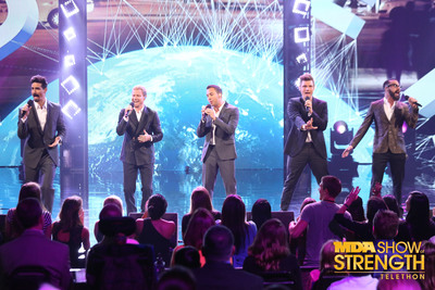 """The Backstreet Boys will open the 48th annual MDA Show of Strength Telethon tonight with their newest single """"In A World Like This"""" on ABC television stations across the country.  (PRNewsFoto/Muscular Dystrophy Association)"""