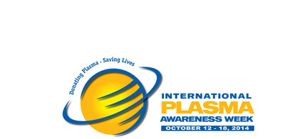 PPTA together with its Member Companies is pleased to sponsor the second International Plasma Awareness Week to be celebrated globally October 12-18, 2014. This event will be held annually and is designed to: Raise global awareness about source plasma collection; Recognize the contributions of plasma donors to saving and improving lives; Increase understanding about lifesaving plasma protein therapies and rare diseases. (PRNewsFoto/PPTA)