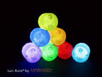 Color-changing Luci Aura is a glamorous, sustainable and fun light for any home or celebration! www.mpowerd.com (PRNewsFoto/MPOWERD, Inc.)