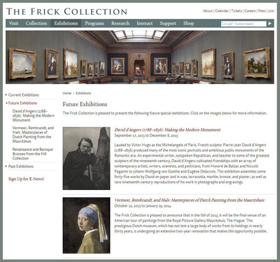 The Frick Collection Trumba promotion spud.  (PRNewsFoto/Trumba Corporation)