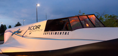 The XCOR Lynx Spacecraft full scale model will be on display at Gordon McCall's Motorworks Revival 2014 at the Monterey Jet Center on August 13, 2014. (PRNewsFoto/XCOR Aerospace)