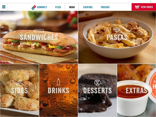 Domino's today launches its most beautiful ordering app yet, for iPad. (PRNewsFoto/Domino's Pizza)