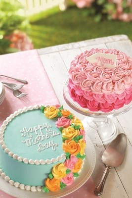 Baskin-Robbins is Celebrating Moms Nationwide this May with Colorful Rosette Ice Cream Cakes and Mom's Makin' Cookies Flavor of the Month