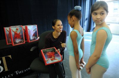 "May 2, 2016 - Misty Copeland unveils her new Barbie doll for Project Plie dancers at the American Ballet Theatre in New York City. The one-of-a-kind doll, made in Misty's likeness, continues to show girls they can be anything and is part of the brand's ""Sheroes"" line. Credit: Diane Bondareff, AP Photographer"