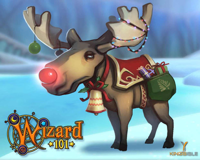 KingsIsle Entertainment launches Chrismoose charity mount in Wizard101.  (PRNewsFoto/KingsIsle Entertainment, Inc.)