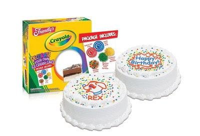 Design Your Own Ice Cream Cake : Friendly s and Crayola Team Up to Offer a Premium Decorate ...