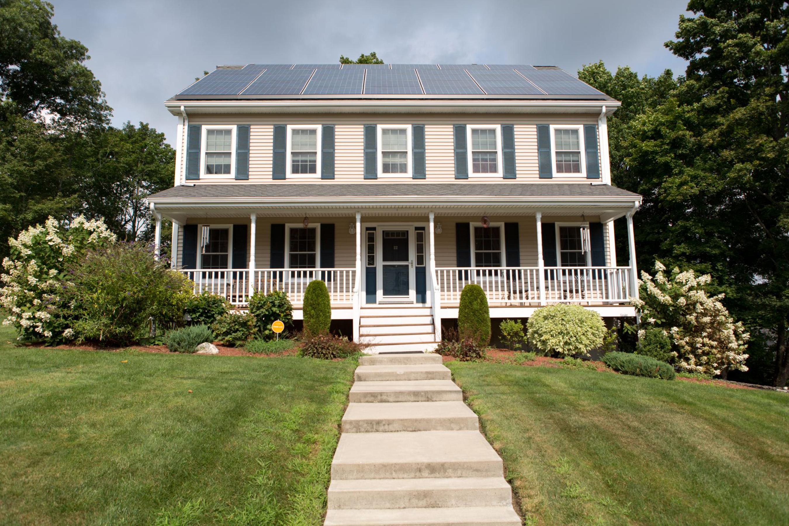 Home in Woburn, Massachusetts area runs on solar energy provided by Vivint Solar. (PRNewsFoto/Vivint Solar) (PRNewsFoto/VIVINT SOLAR)