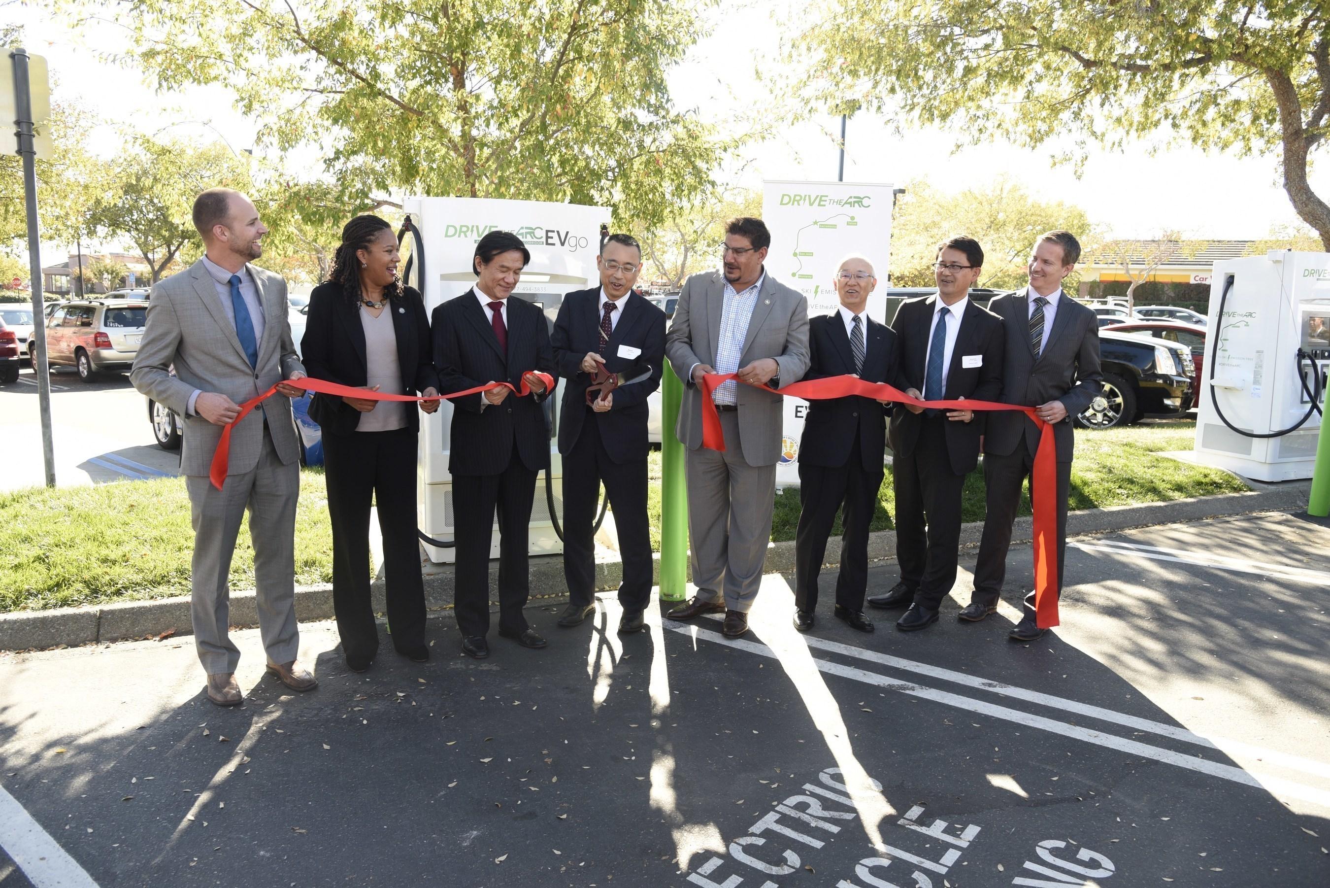 'DRIVETHEARC' EV Fast Charging Corridor Breaks Ground In Northern California