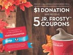 Wendy's is giving consumers the opportunity to give back this fall by purchasing a $1 Halloween Coupon book filled with free Jr. Frosty(TM) coupons - marking the first year Wendy's has rolled out the coupon book nationally. The Halloween Coupon book will be available for purchase until October 31 at participating Wendy's. (PRNewsFoto/The Wendy's Company)