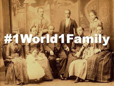 #1World1Family. (PRNewsFoto/Digital Diaspora Family Reunion) (PRNewsFoto/DIGITAL DIASPORA FAMILY REUNION)