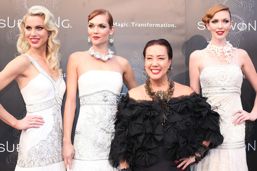 Sue Wong Pays Tribute to 'Glamour Goddesses' of the Silver Screen at Los Angeles Fashion Week