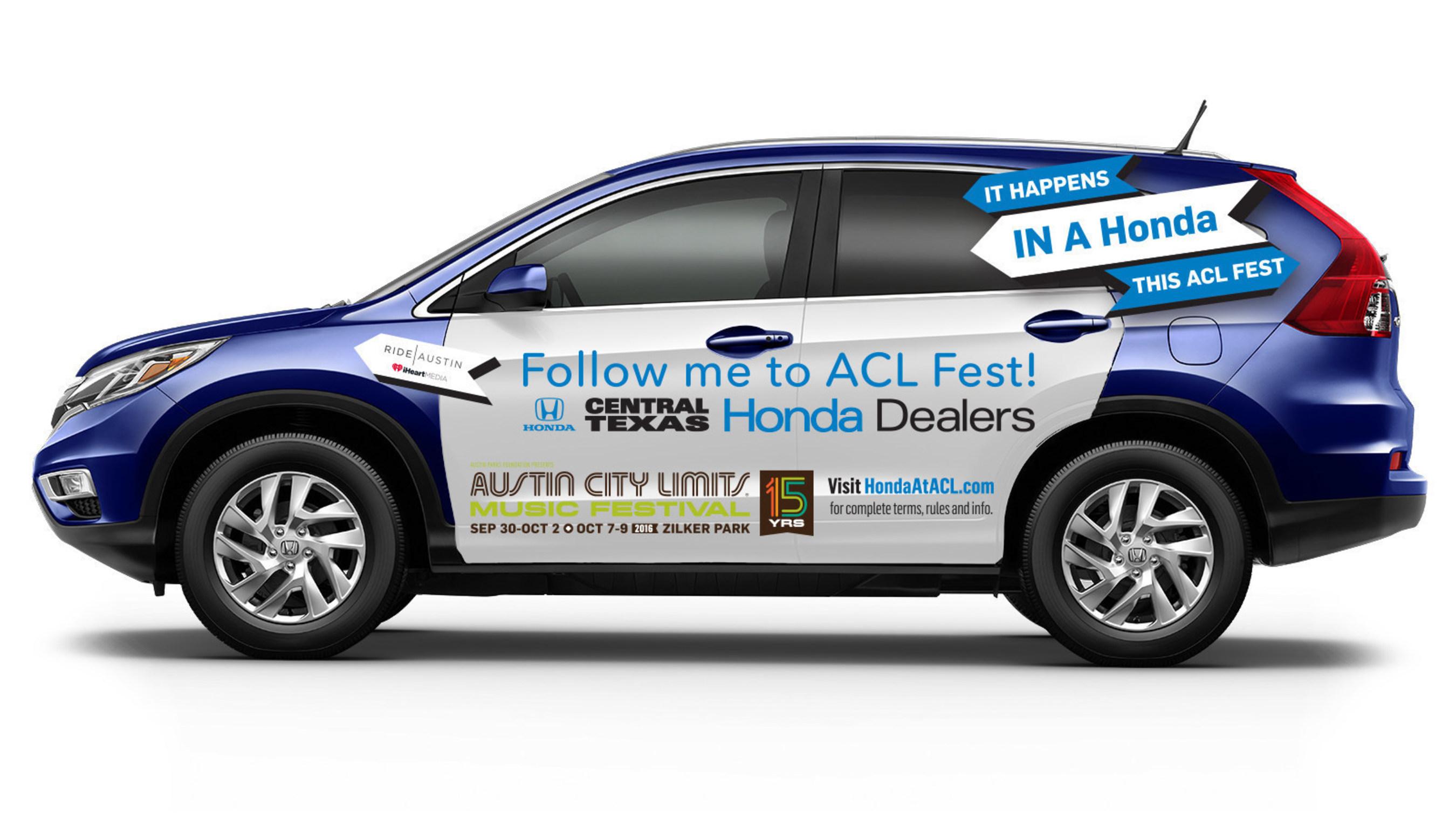 'Hail A Honda' Rideshare Program Comes to Austin City Limits Music Festival Thanks to Honda and the Central Texas Honda Dealers