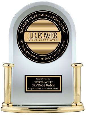"J.D. Power Ranks Northwest Savings Bank ""Highest in Customer Satisfaction with Retail Banking in the Mid-Atlantic Region"" (PRNewsFoto/Northwest Savings Bank)"
