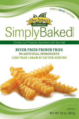 Introducing Dee Amore Simply Baked: The Only Never-Fried French Fries with Less than 1 Gram of Fat per Serving.  (PRNewsFoto/Mr. Dee's/Dee Amore)