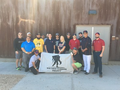 Wounded Warrior Project took injured veterans to meet the Cleveland Indians during Spring Training in Goodyear, Arizona.