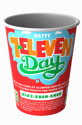 Participating 7-Eleven stores across the nation will offer free 7.11-oz cups of Slurpee beverage on July 11 from 11 am to 7 pm.  (PRNewsFoto/7-Eleven, Inc.)