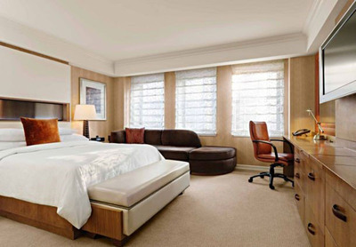 Two New York hotel packages from the JW Marriott Essex House New York allow ice skaters and shoppers alike to indulge in two of the Big Apple's favorite pastimes, then relax and slumber in a life of luxury.  Spacious rooms and suites boast premium linens, deep red velvet highlights and leather accents. For information about the hotel and deals, visit www.marriott.com/NYCEX, call 1-212-704-8906.  (PRNewsFoto/JW Marriott Essex House New York)