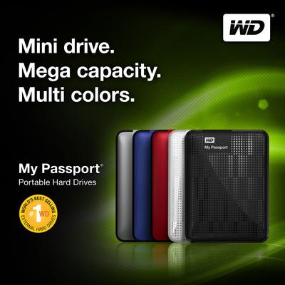WD(R) Ships First 2 TB Portable Hard Drive With Next-Gen My Passport(R).  (PRNewsFoto/Western Digital)