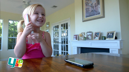 Pipsqueak(R), the only Bluetooth mobile phone designed for children 3-years-old and older with affordability, durability and children's safety in mind. The product, which launches today on crowdfunding site Kickstarter.com (search Yip Yap), also ushers in a new category for consumer electronics: BluetoothKids' Phones.  (PRNewsFoto/Yip Yap, Inc.)